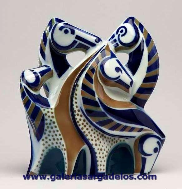 Sargadelos en homenaje a los curros de caballos. Fábrica de cerámica de Sargadelos- CERVO-Lugo- Galicia-SPAIN