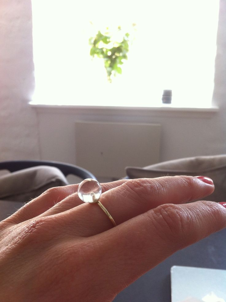 Big Drop  Power ring with rock crystal. An angel by your side.