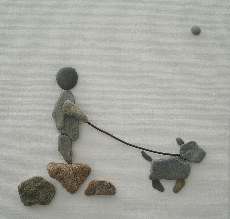 pebble art   Pebble Art: Pebbles on canvas