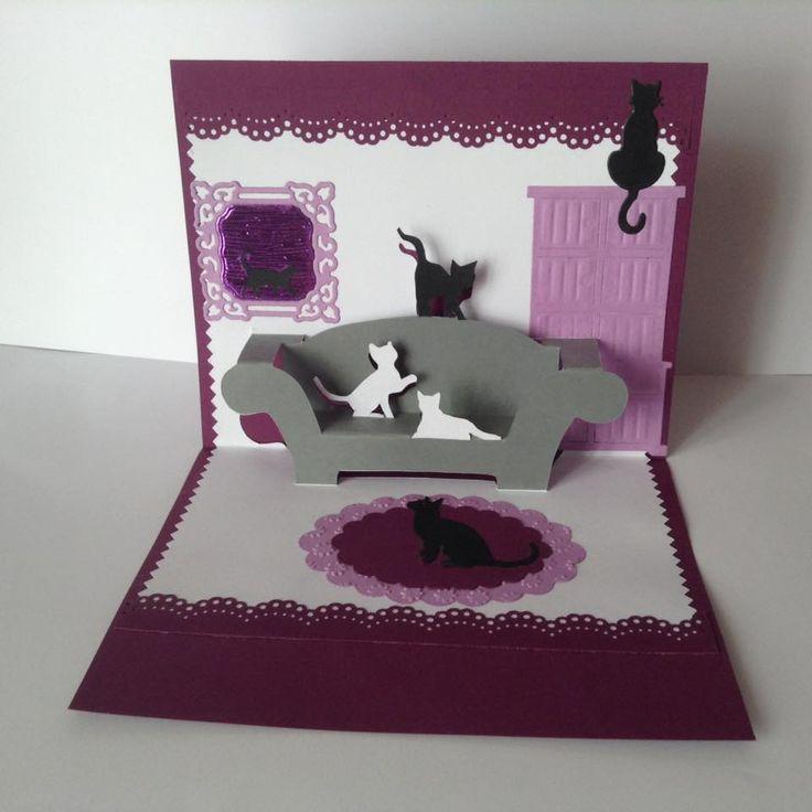 kirigami carte les chats