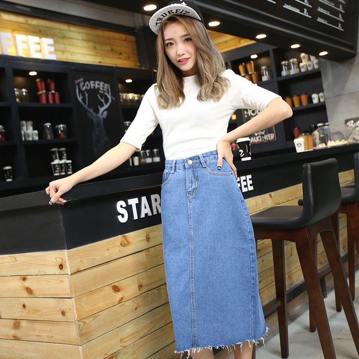 blue denim skirt x83
