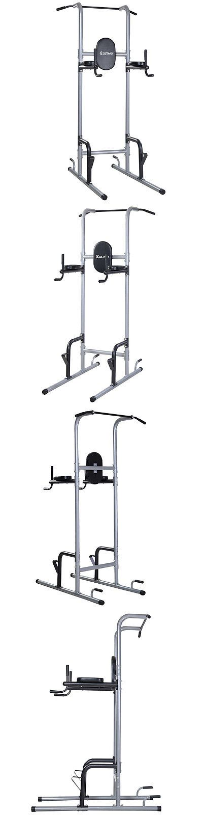 Pull Up Bars 179816: Costway Chin Up Tower Rack Pull Up Stand Bar Leg Raise Home Gym Workout Weight -> BUY IT NOW ONLY: $107.99 on eBay!
