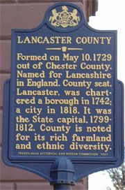 Garst family settled in Lancaster County in 1749 before moving to Virginia in the 1790s.