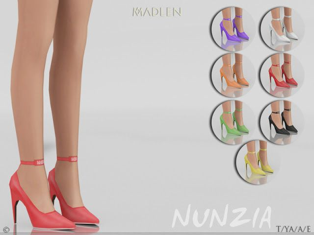Sims 4 CC's - The Best: Madlen Nunzia Shoes by MJ95