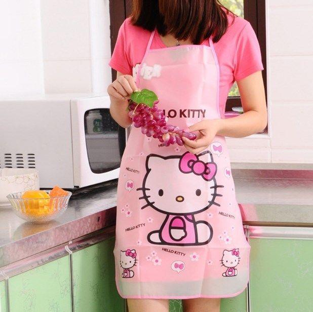 NEW Designs Cartoon Hello Kitty, Apron Sleeveless - Waterproof Anti-oil kitchen  #HelloKitty #Cartoon