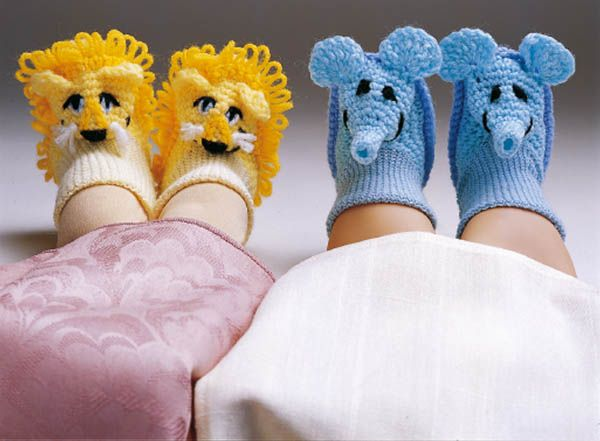 Crocheted Animal Booties By Sue Penrod - Free Crochet Pattern - (craftideas):