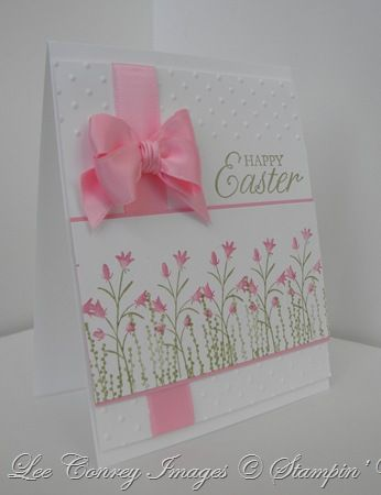Beautiful! Pocket Silhouette's EasterEmbossing Folder, Cute Cards, Easter Cards, Birthday Cards, Pretty Cards, Pink Bows, Su Pocket, Pocket Silhouettes, Happy Easter