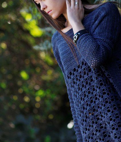 Rebel - gorgeous free S-XXL crochet tunic pattern by Brenda Grobler of Nurturing Fibres.