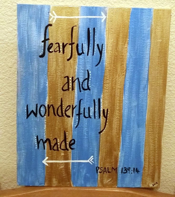 Fearfully & wonderfully made - Psalms by WHIRLTHECOLOR on Etsy