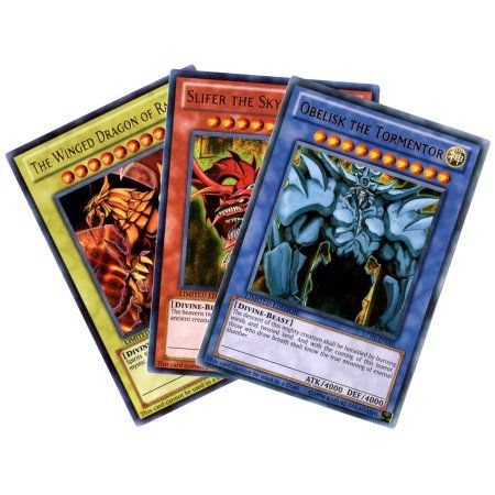 YuGiOh Legendary Collection 1 Set of All 3 Legendary Collection Egyptian God Single Cards