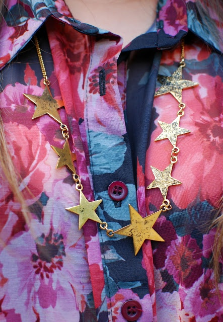 Necklace Star - wearable 2 sides <3