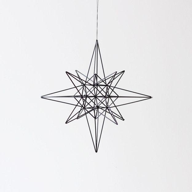 Large Brass Moravian Star Himmeli / Modern Hanging Mobile or Wreath / Geometric Sculpture / Minimalist Home Decor ($155.00) - Svpply