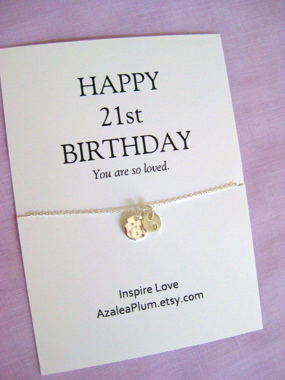 21st Birthday Gift For Daughter Solid Sterling Silver Neclace Her