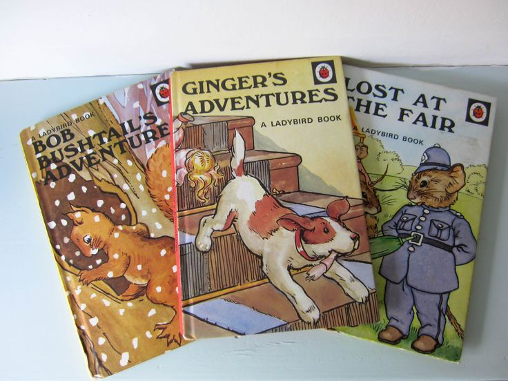 Vintage ladybird children's books, Lost at the fair, Gingers adventures, Bob bushtails adventures, 1940s childrens books, birthday gift, by thevintagemagpie01 on Etsy