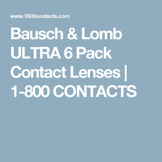 Bausch & Lomb U... 1 800 Contacts Order