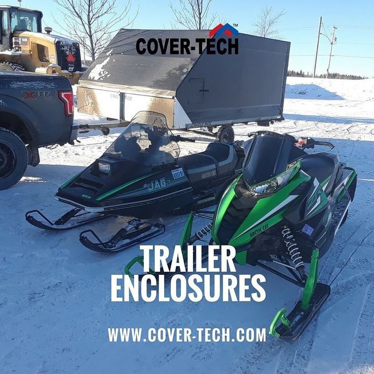 """Marc Brunette sent us his new Trailer Enclosure pictures and this is one of them. Thank you for the awesome picture! He also said """" Hello, I received my trailer enclosures. It was a pleasure to assemble and looks great. Thank you very much."""" . #TrailerEnclosure is an affordable way to keep your toys or equipment clean and dry during those short hauls to your favorite trail or long drives to the weekend cottage. Low cost #CustomMade to fit your trailer & do It yourself kits shipped to your…"""