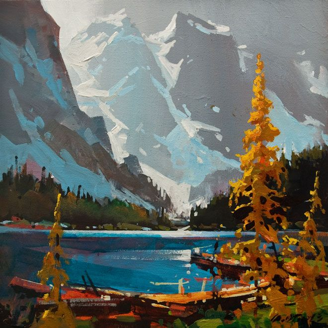 Grey Blue Atmosphere, Moraine Lake, by Michael O'Toole