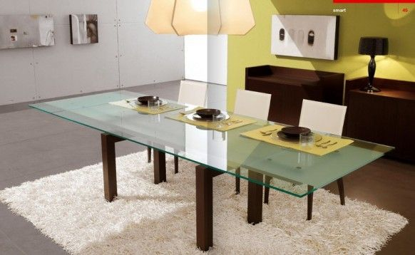 Dining room Cattelan Italia glass yellow Italy