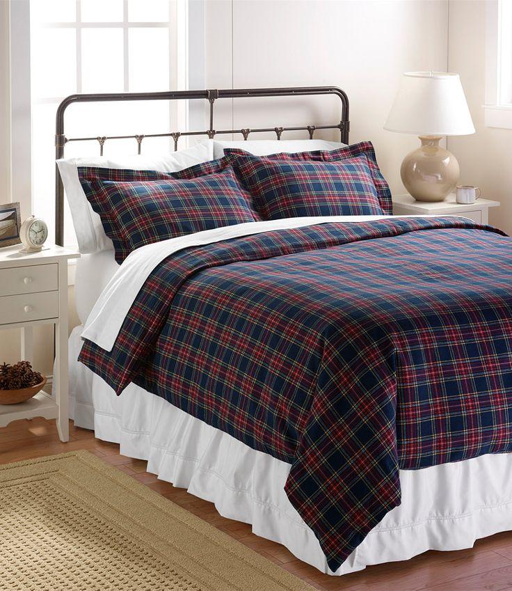 Heritage Chamois Flannel Comforter Cover Plaid Random
