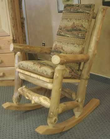 diy outdoor furniture from tree logs | rocking chair made of logs handmade wood furniture