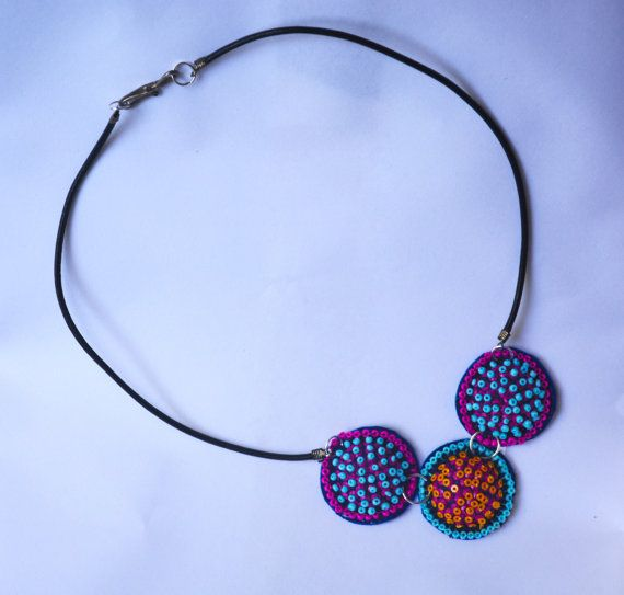 Handmade Bobble necklace two colourways by BobblesbyMoony