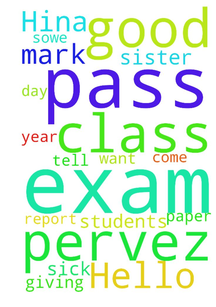 Hello my name us Hina pervez and I am - Hello my name us Hina pervez and I am students of class 10 I want to request you for please pray for me ,for my exam because I am also sick from 2year so please pray for me so I pass my exam I good mark and for my sister also she is giving 9class paper so God help us. Please pray for us so,we pass or exam in good mark. And when my report day come I will tell u that I pass my exam. please pray for me Posted at: https://prayerrequest.com/t/AR7 #pray…