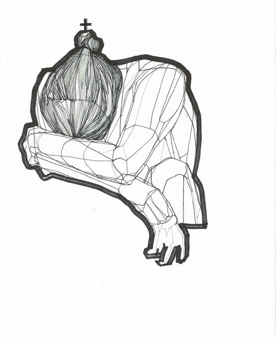 Ganna Kotsar, drawing on paper