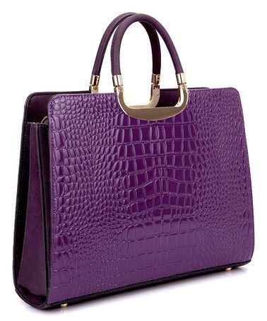 Look at this #zulilyfind! Purple Patent Croco Satchel #zulilyfinds