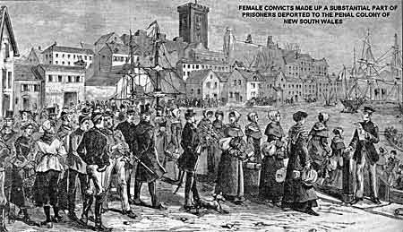 """Reads..""""Female convicts made up a substantial part of prisioners deported to the penal colony of New South Wales""""..Wild Geese Heritage Museum and Library, Ireland"""