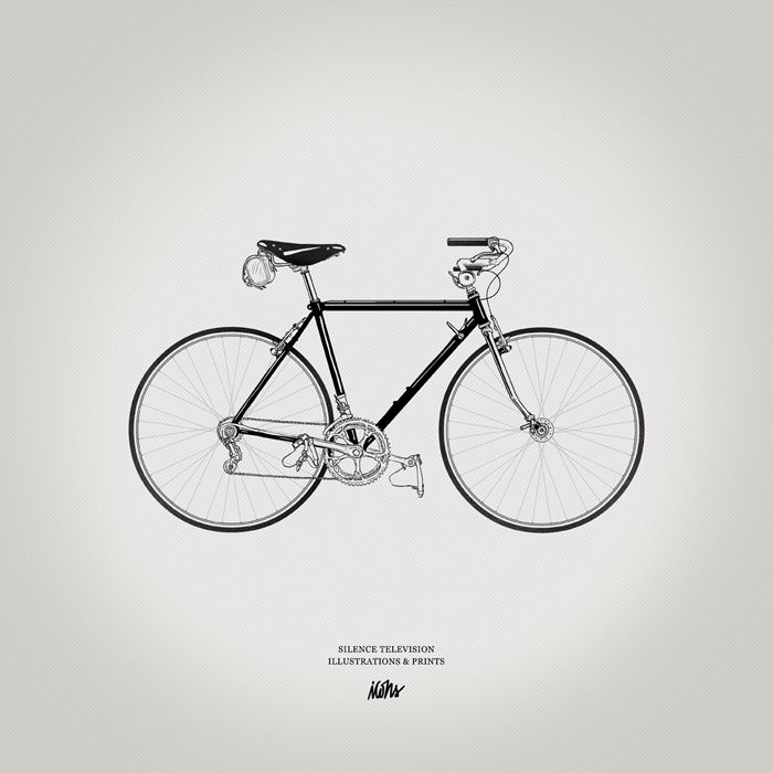 gorgeous bike illustration