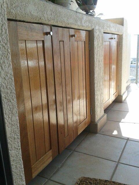 Newly installed Maranti doors on a balcony in Seapoint