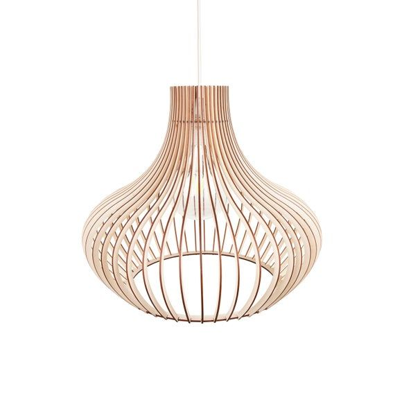 Kwud Modern Scandinavian Style Ceiling Mount Wood Pendant Lighting Lamp Shade With E26 27 Base In 2020 Wood Pendant Lamp Light Scandinavian Style
