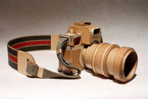 Creación de una máquina fotográfica útil para filmar fabricada con madera