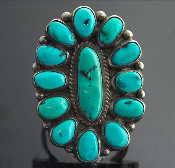 Sterling Silver and Turquoise Ring / Vintage Navajo