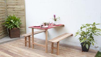 ¿Cómo hacer mesa y sillas plegables para tu sala? Rápido y muy sencillo. |