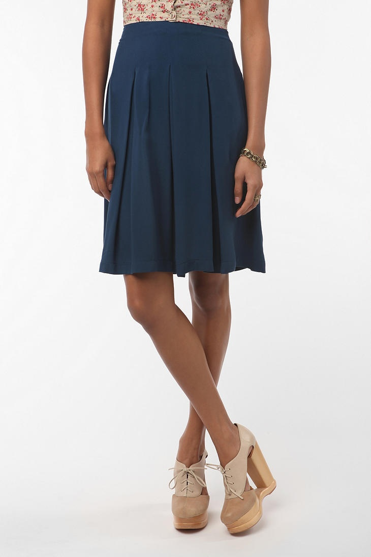 pins & needles hi-wasted skirt in navy