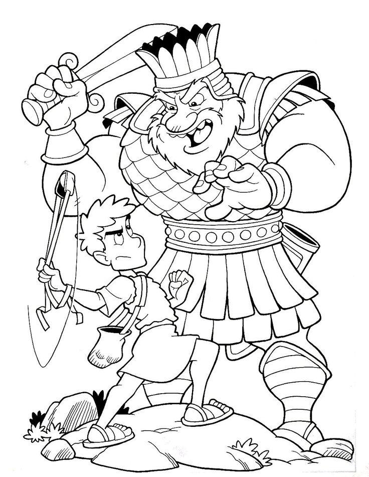 David And Goliath Coloring Sheet