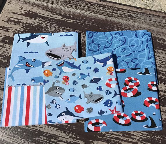 Hey, I found this really awesome Etsy listing at https://www.etsy.com/listing/519376706/shark-fabric-ocean-fabric-sharktown-by