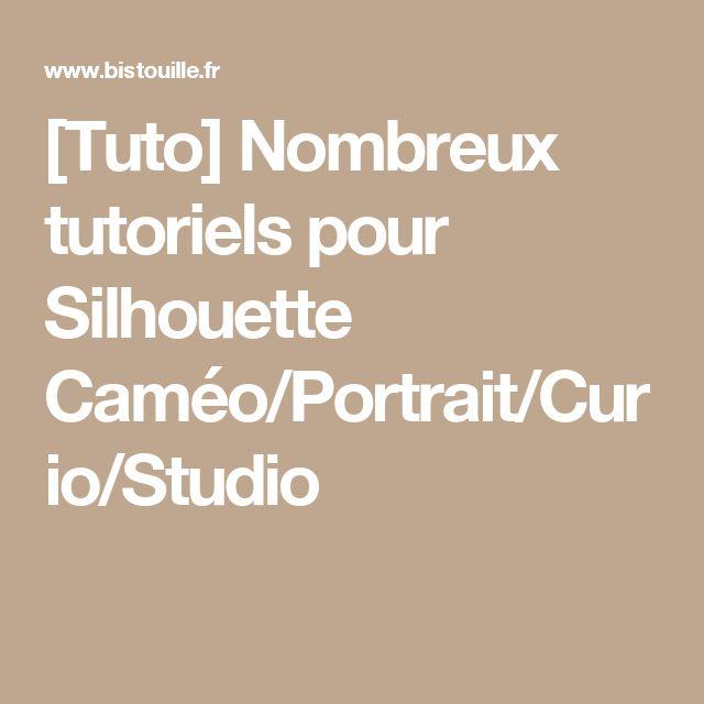 [Tuto] Nombreux tutoriels pour Silhouette Caméo/Portrait/Curio/Studio