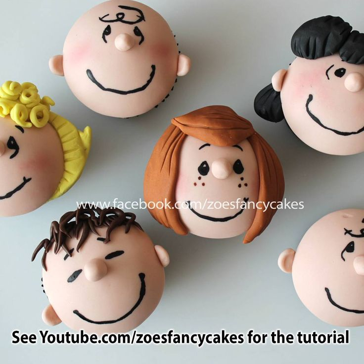 """Peanuts gang cupcakes tutorial now live on my YouTube page! :D  This video is part of a Peanuts movie collaboration. See the video for more…"""