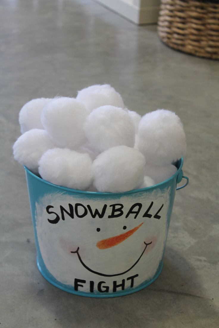 Disney #Frozen #party theme #game - what a cute way to have a indoor snowball fight