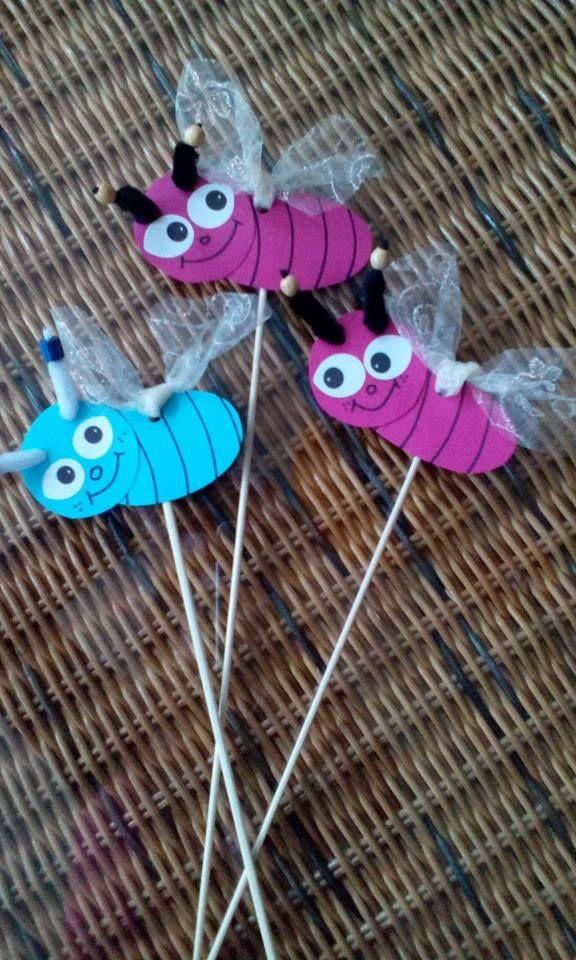 zápich - motýlek - křídla z organzy