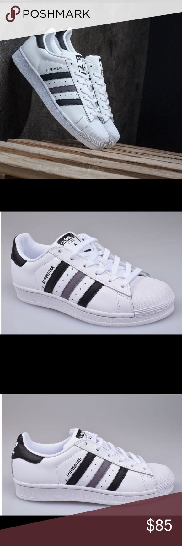 ❤Adidas Originals Superstar Men's Shoes❤ New to Culture Kings in a standout colourway, the adidas Superstar sneaker reigns supreme. The fan favourite launched in 1969 and quickly lived up to its name as NBA players laced into the now-famous shell-toe design. These men's shoes come in full grain leather with serrated 3-Stripes and a rubber cupsole.   - Full grain leather upper  - Rubber shell toe  - Synthetic leather lining  - Herringbone-pattern rubber cupsole  New Without Box Adidas Shoes…