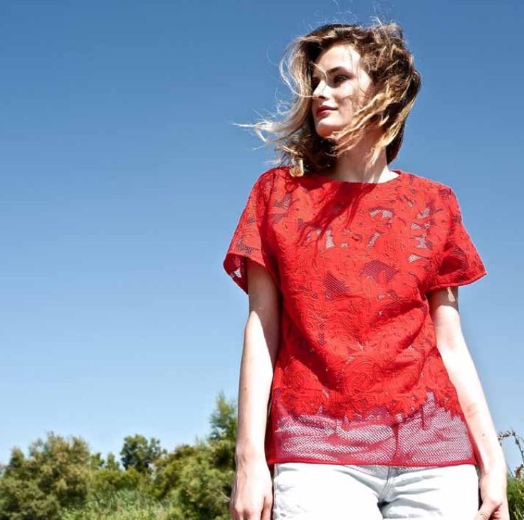 Top Rocco - Lace - Red - Love