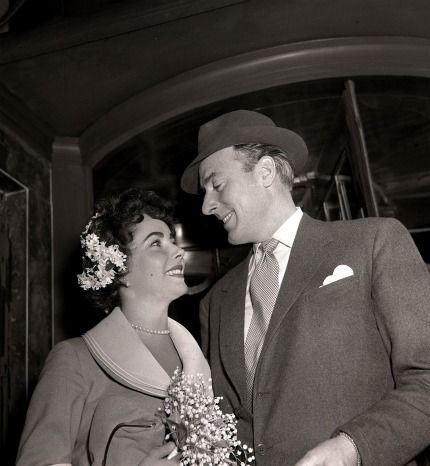 This was the second marriage for both Elizabeth Taylor and British actor Michael Wilding. They were married on February 21, 1952—she wore a modest suit—and went on to have two sons, Michael and Christopher. They were divorced in January of 1957.