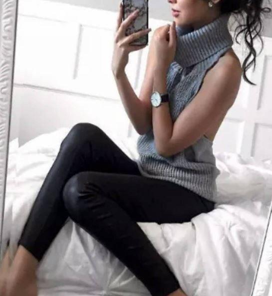 Black Faux Leather Pants
