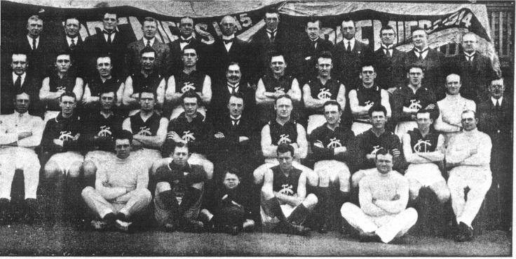 1915 Grand Final: Carlton 11.12.78 def Collingwood 6.9.45.