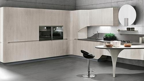 Wood Futuristic Kitchen Ideas Love The Shape Moderna Kuhinja Stosa