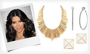Groupon - Kim Kardashian Jewelry (Up to 64% Off). 28 Options Available. Free Shipping on Purchases of $ 15 or More. Free Returns. in Online Deal. Groupon deal price: $6.99