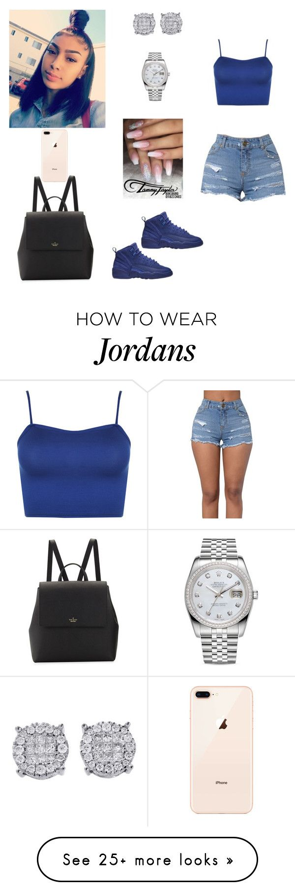 """""""Untitled #864"""" by honeycombs23 on Polyvore featuring WearAll, Kate Spade and Rolex"""